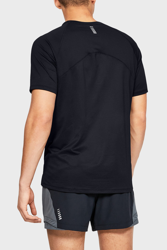 Мужская черная футболка UA QUALIFIER GLARE SHORTSLEEVE-BLK