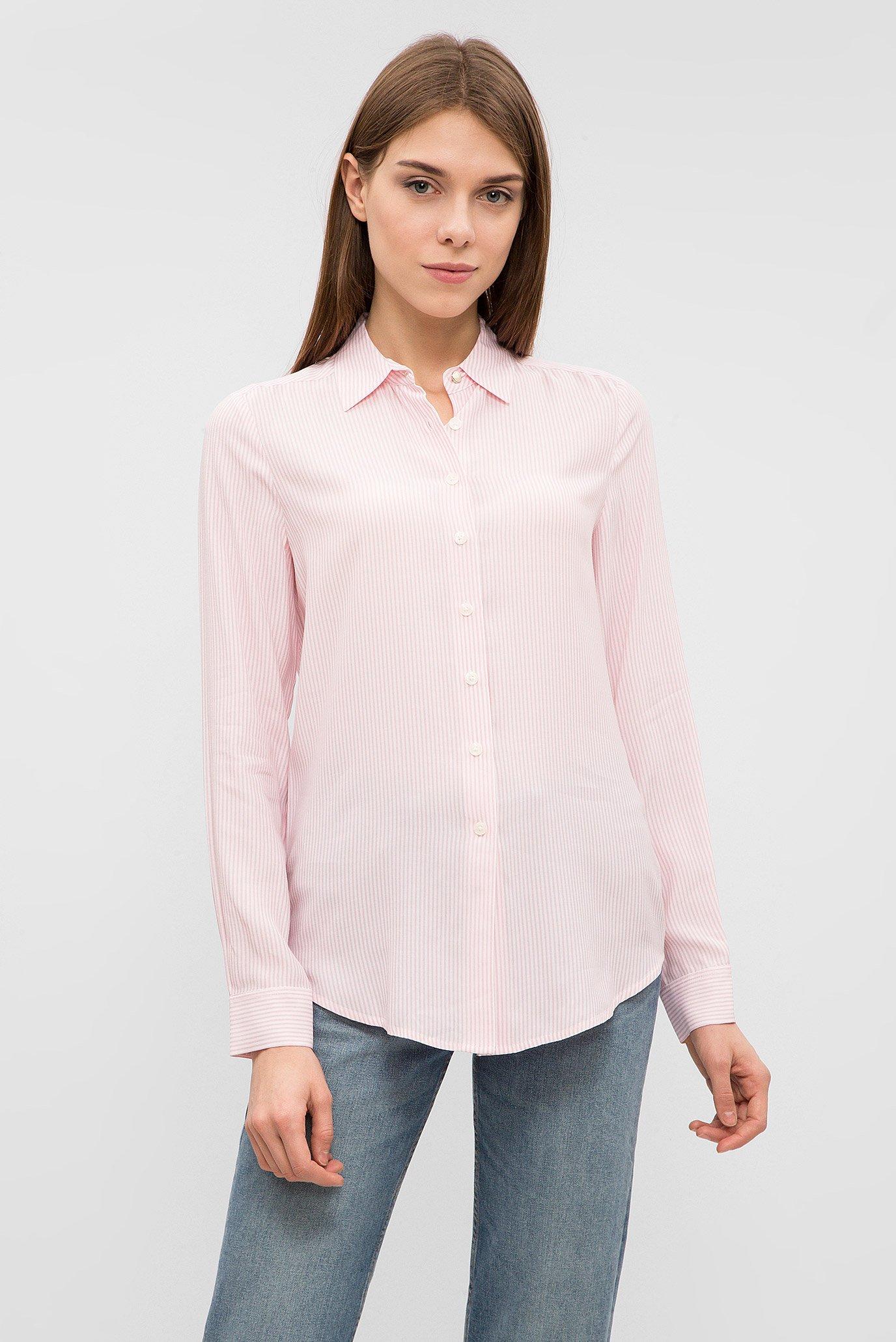 3016c405616c06c Купить Женская розовая рубашка в полоску Tommy Hilfiger Tommy Hilfiger  WW0WW20547 – Киев, Украина. Цены в интернет ...