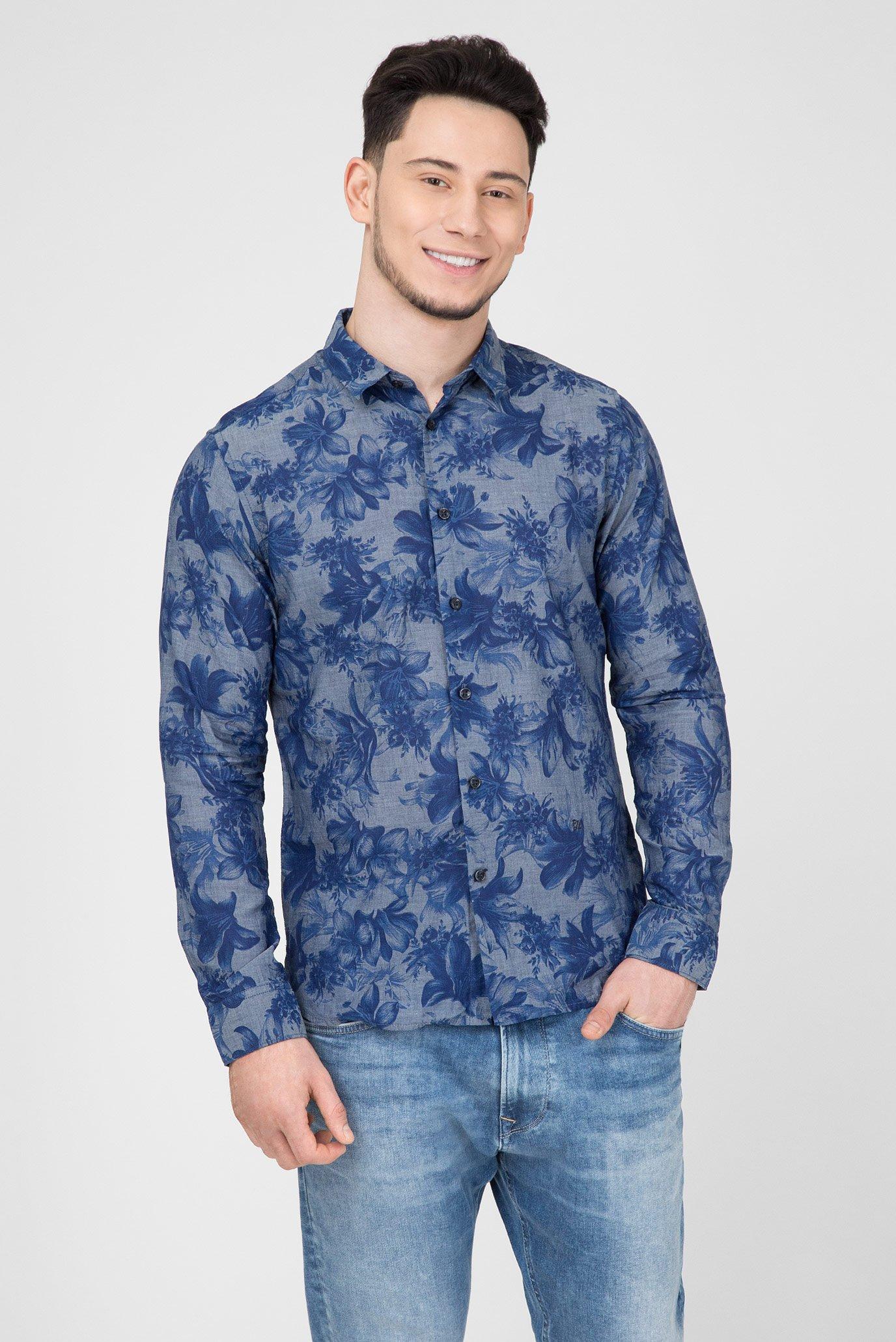 a08f3e4e98e Купить Мужская синяя рубашка с принтом DEXTER Pepe Jeans Pepe Jeans  PM305809 – Киев