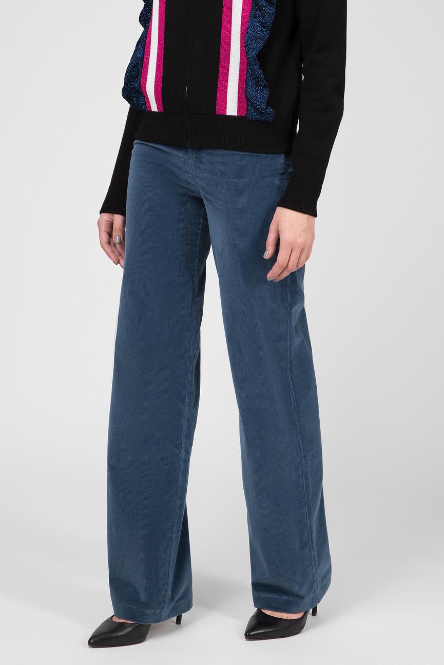 Женские синие вельветовые брюки