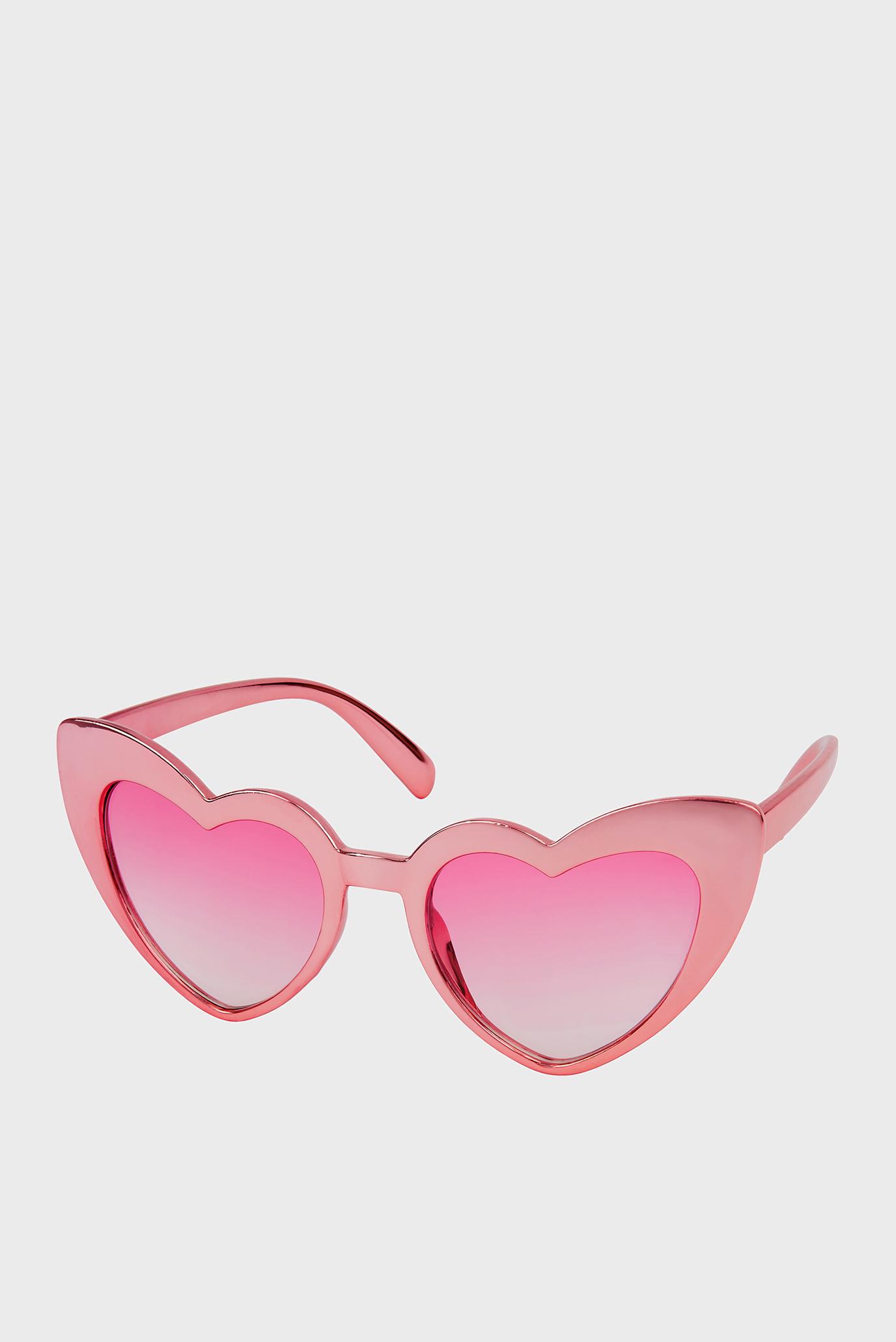 Дитячі рожеві сонцезахисні окуляри RETRO HEART SUNGLASS 1
