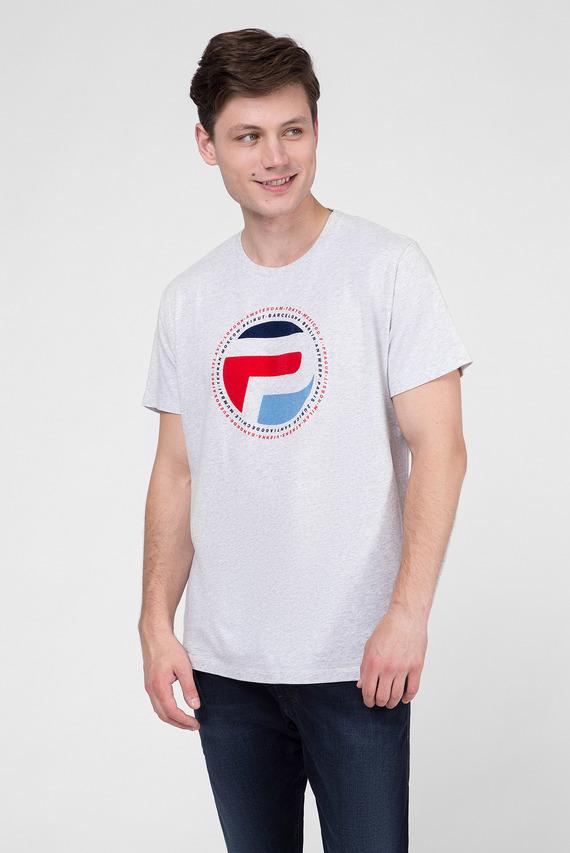 Мужская серая футболка с принтом DUFF