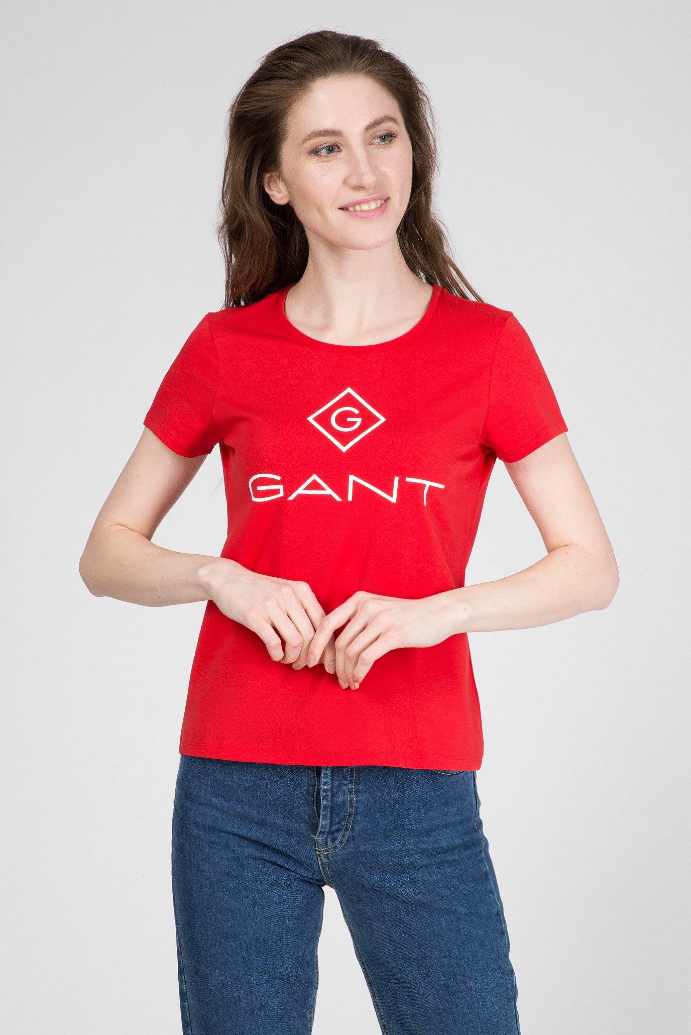 Женская красная футболка LOCK UP 1