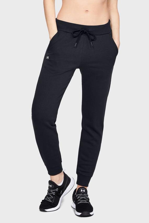 Женские черные спортивные брюки RIVAL FLEECE SOLID
