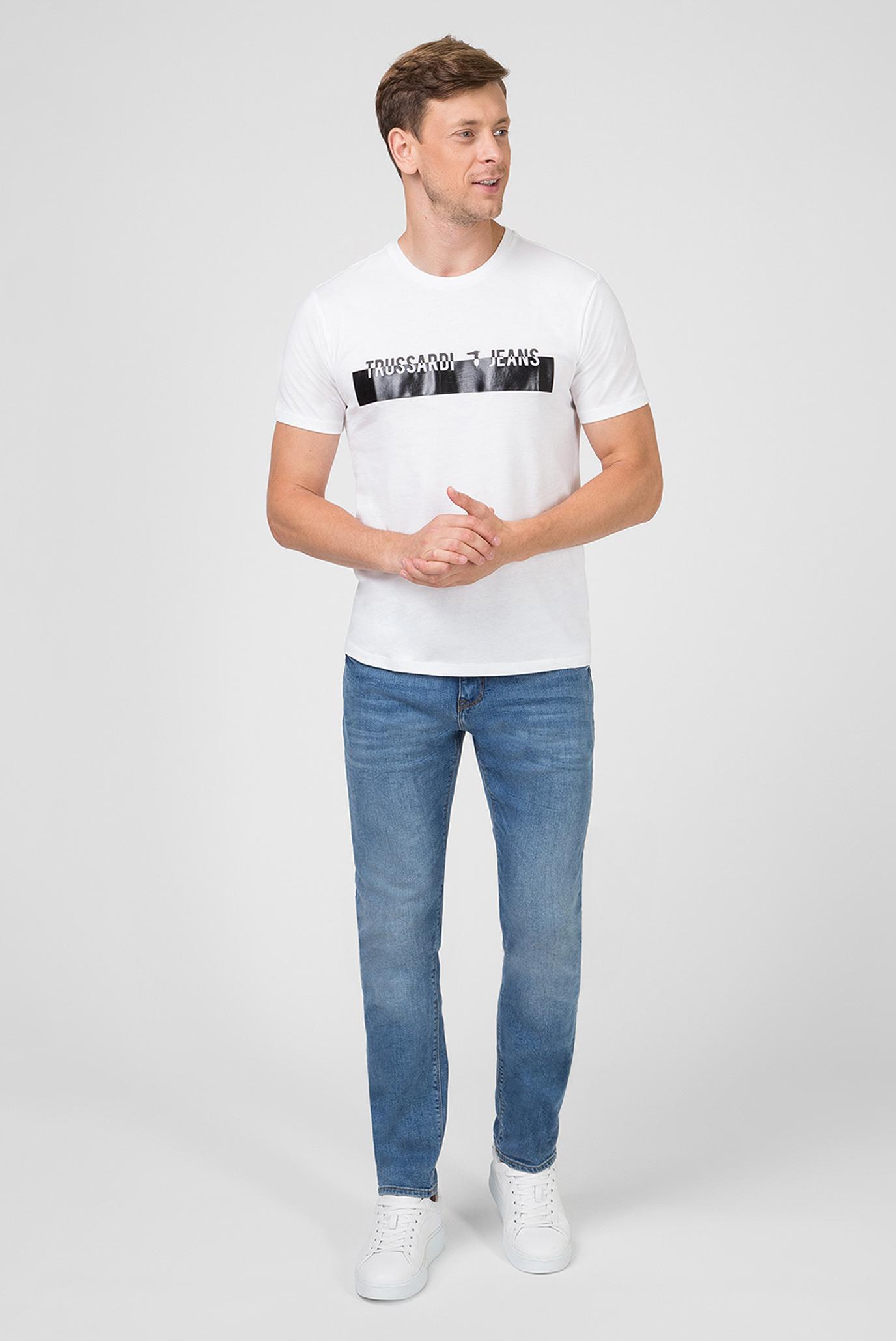 Мужская белая футболка Trussardi Jeans