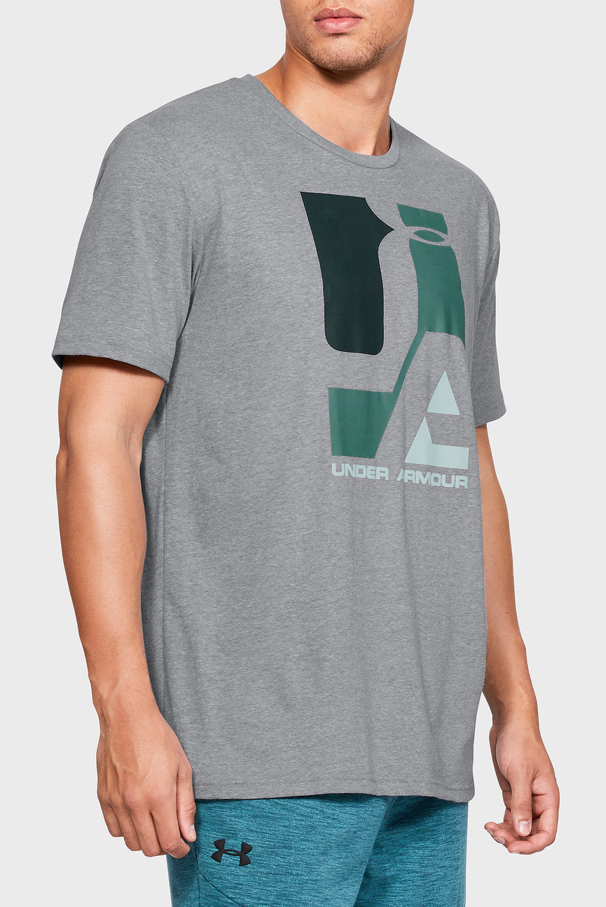 Мужская серая футболка UA Mosaic Graphic