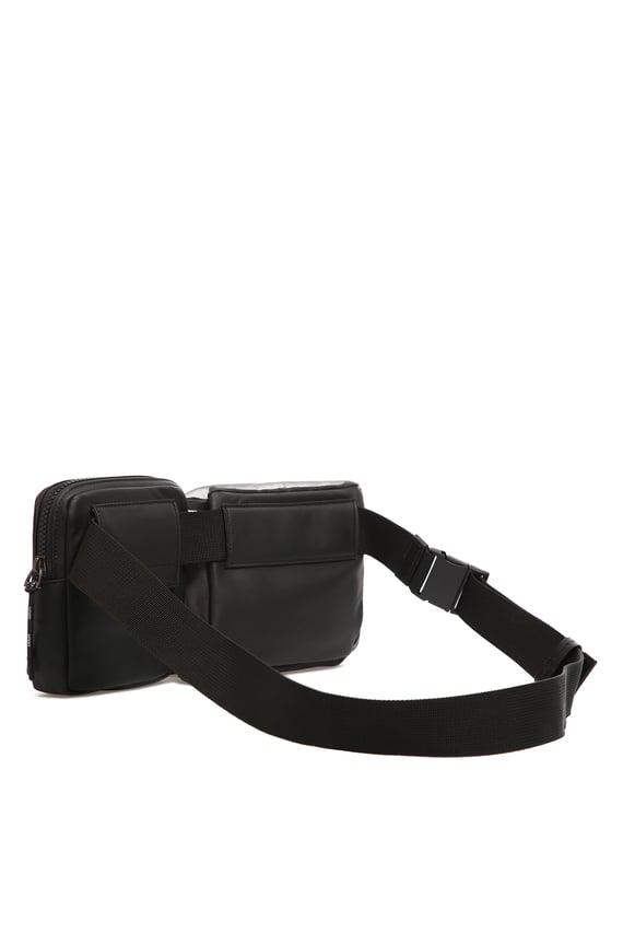 Мужская черная поясная сумка 2 в 1