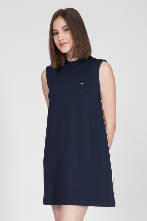 Женское темно-синее платье TJW TAPE DETAIL A-LINE