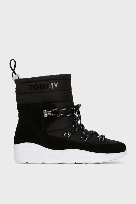 Женские черные ботинки PADDED NYLON
