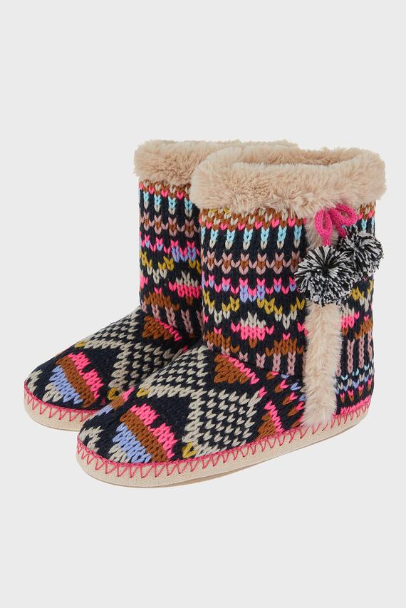 Женские черные домашние тапочки Fairisl Slipper Boot