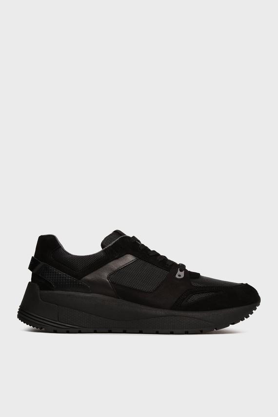 Мужские черные замшевые кроссовки Rui Manuel