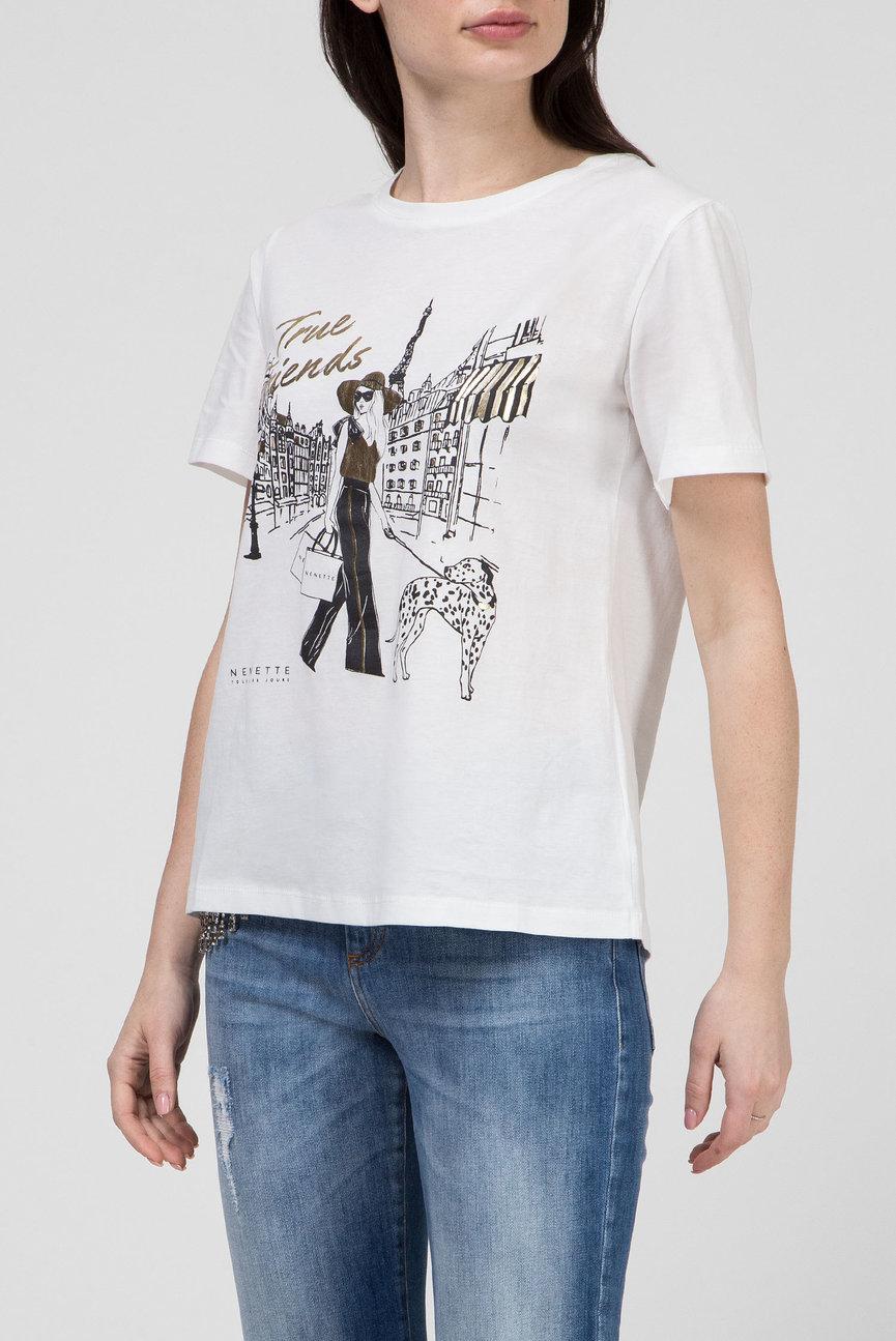 Женская белая футболка DURHAM