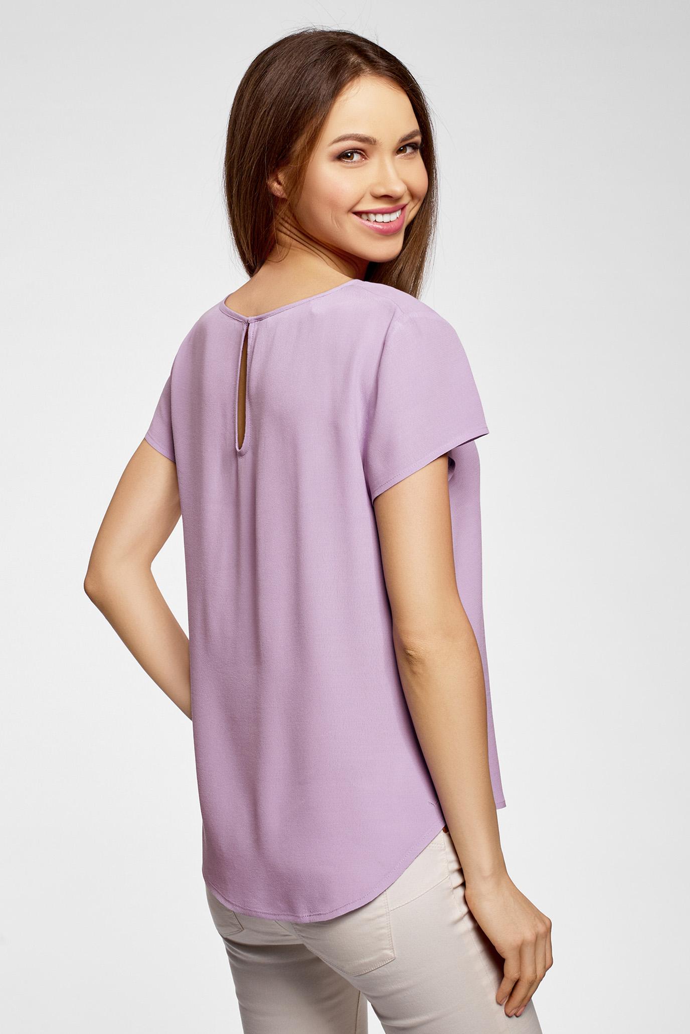 Купить Женская сиреневая блуза Oodji Oodji 11411138B/46249/8001N – Киев, Украина. Цены в интернет магазине MD Fashion