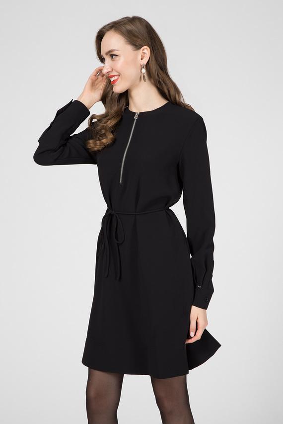 Женское черное платье TRAVEL CREPE