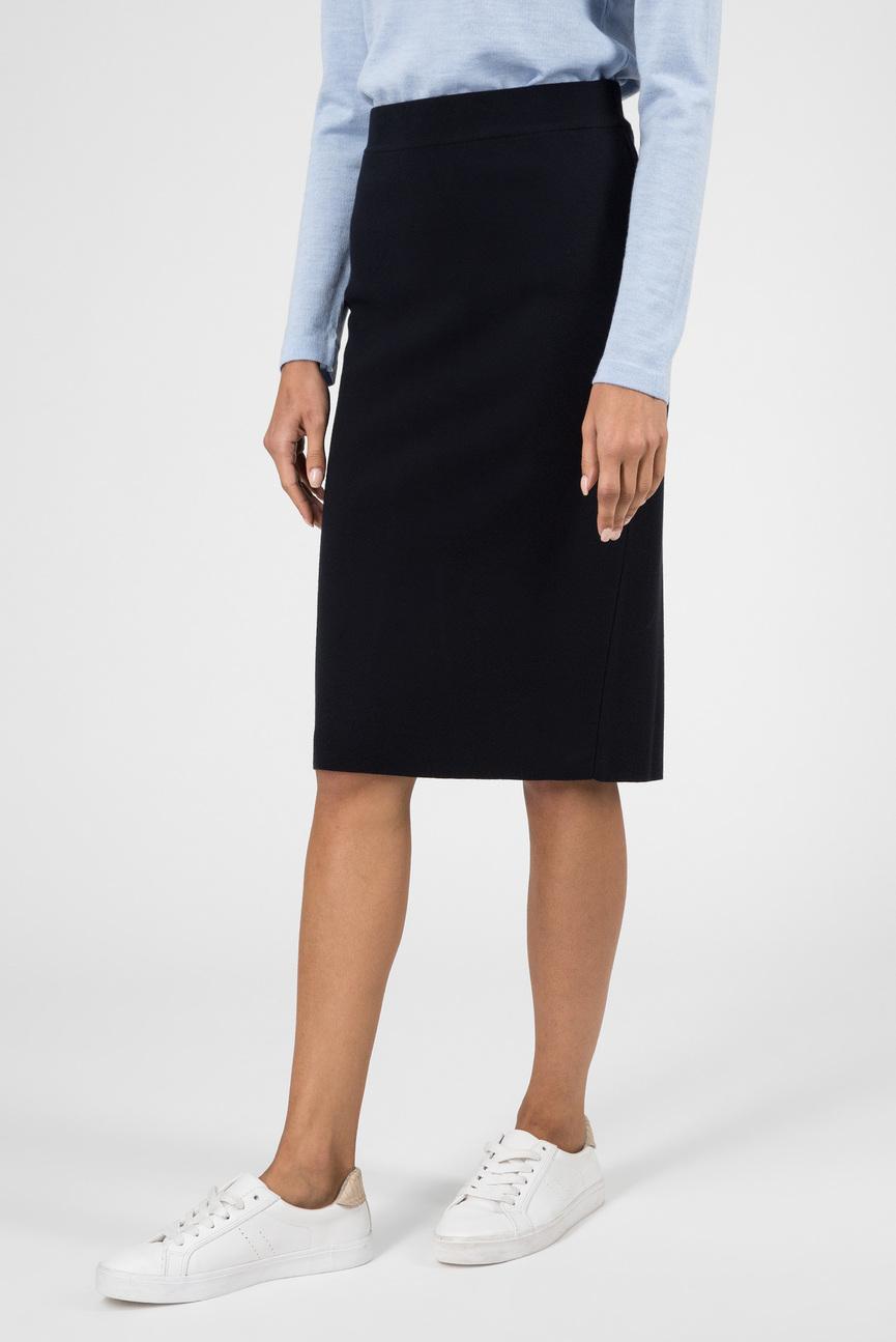 Женская темно-синяя юбка