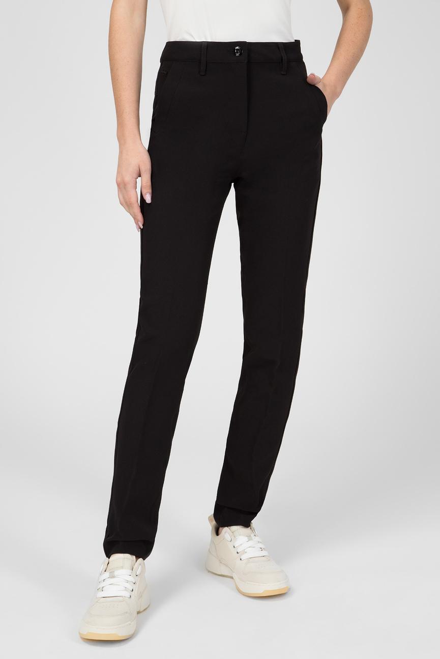 Женские черные брюки Bronson high skinny piping chino