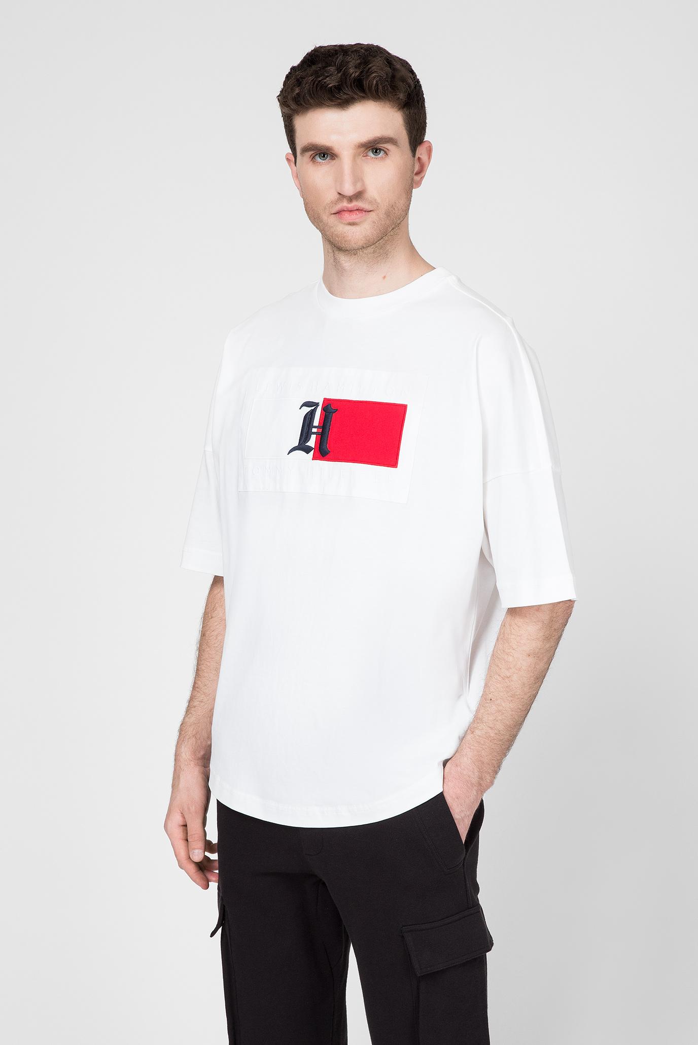 Мужская белая футболка Lewis Hamilton Tommy Hilfiger