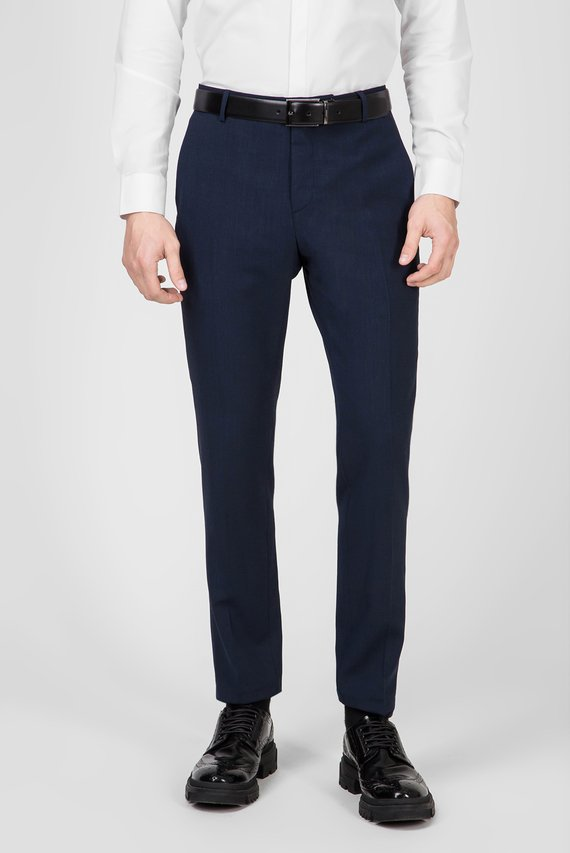 Мужские темно-синие брюки BI-STRETCH HOUNDSTOOTH SLIM