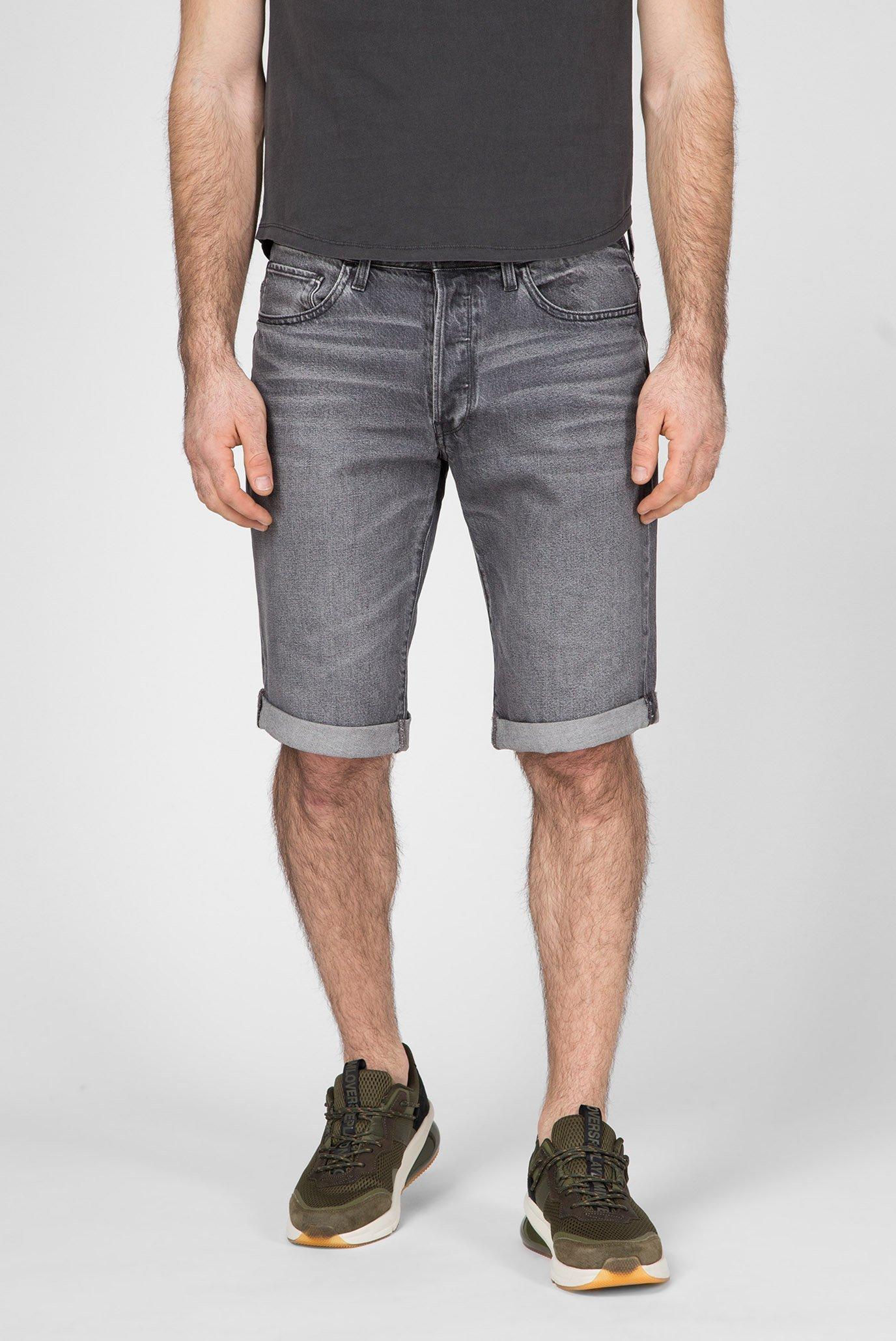 Мужские серые джинсовые шорты  3301 1