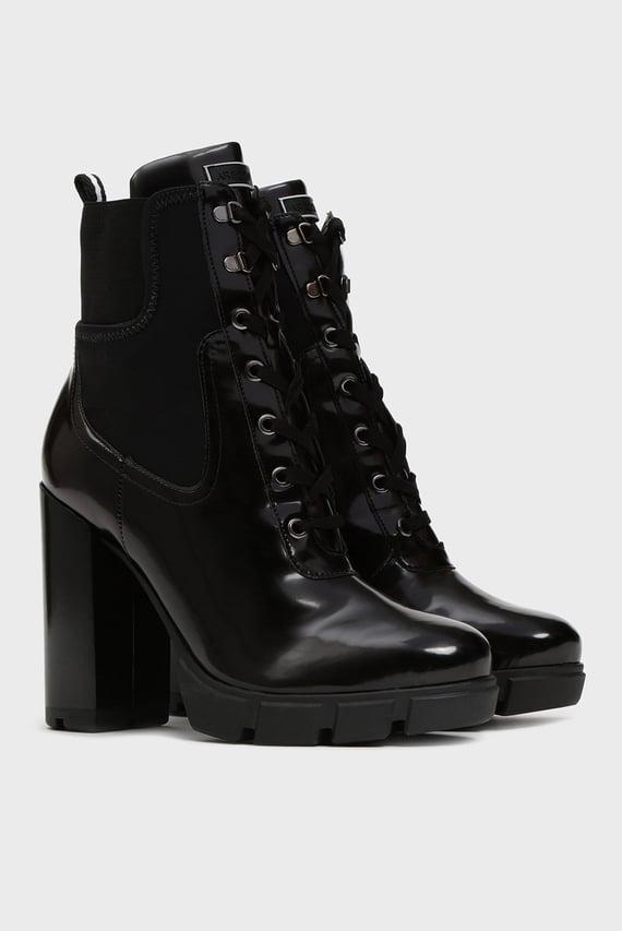 Женские черные ботильоны