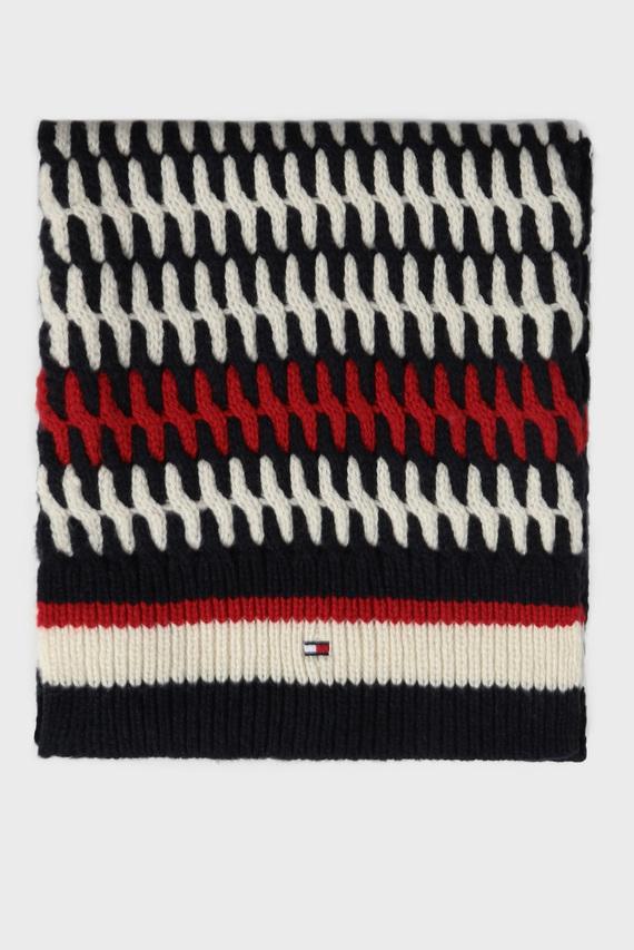 Мужской шерстяной шарф с узором TAILORED CABLE
