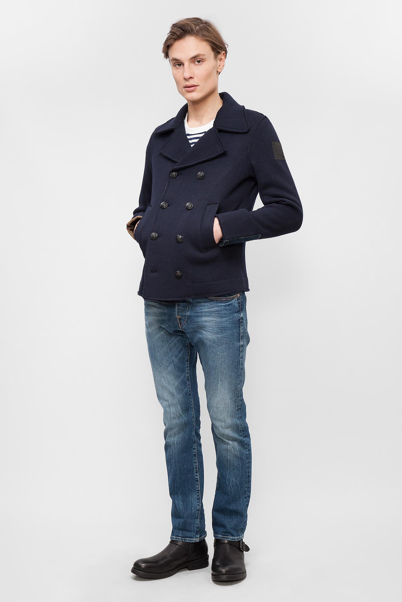 Купить Мужское синее пальто Replay Replay M8879 .000.82868 – Киев, Украина. Цены в интернет магазине MD Fashion