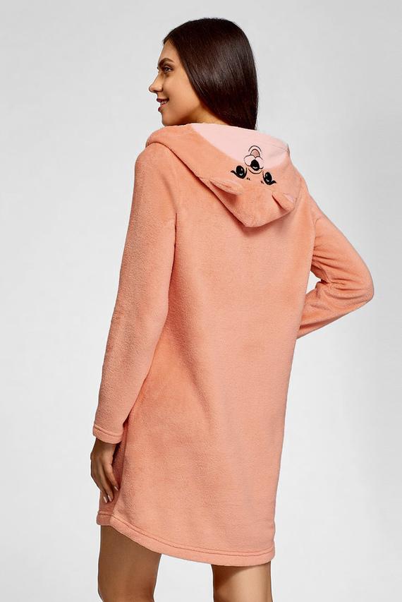 Женское оранжевое домашнее платье