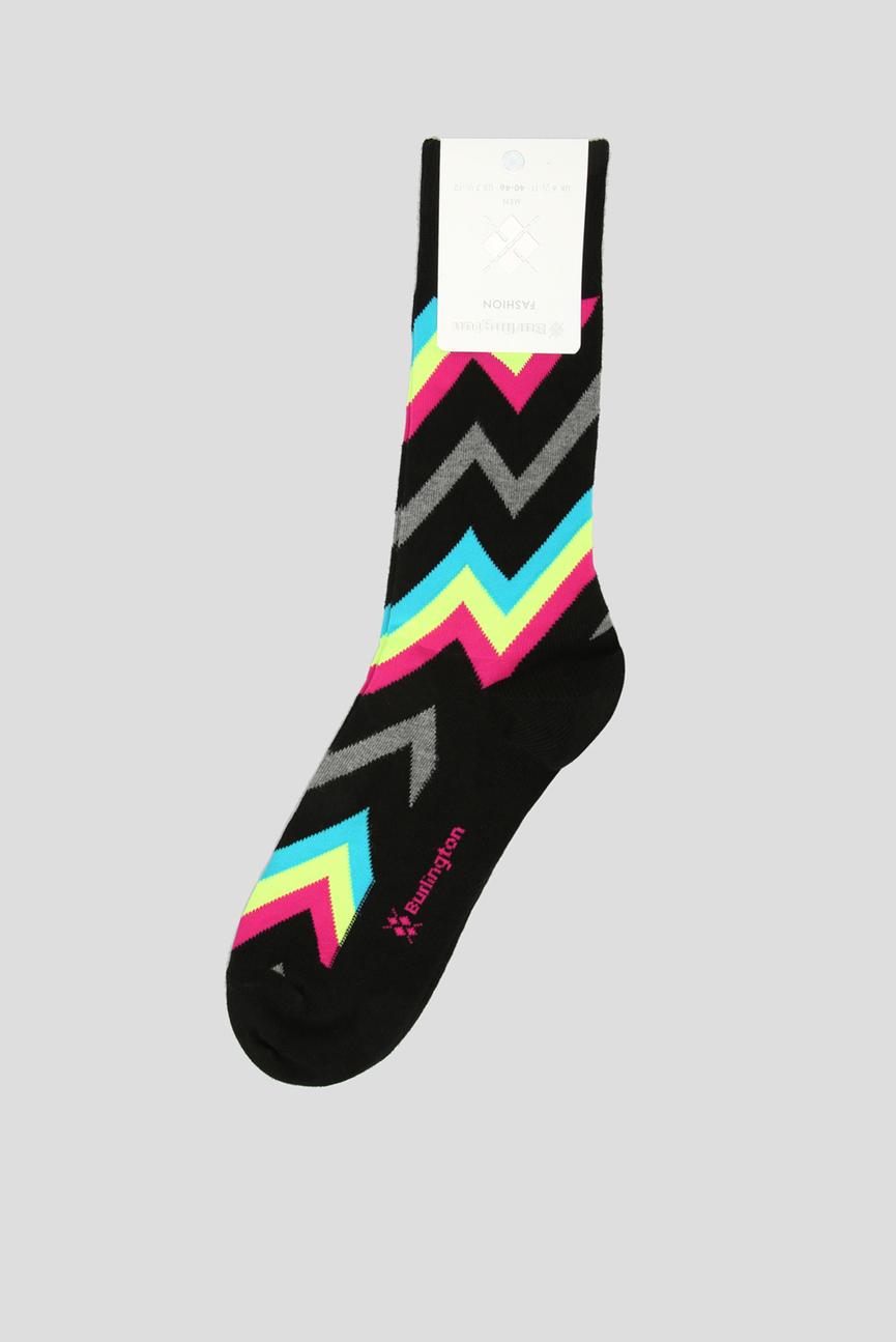 Мужские черные носки с узором