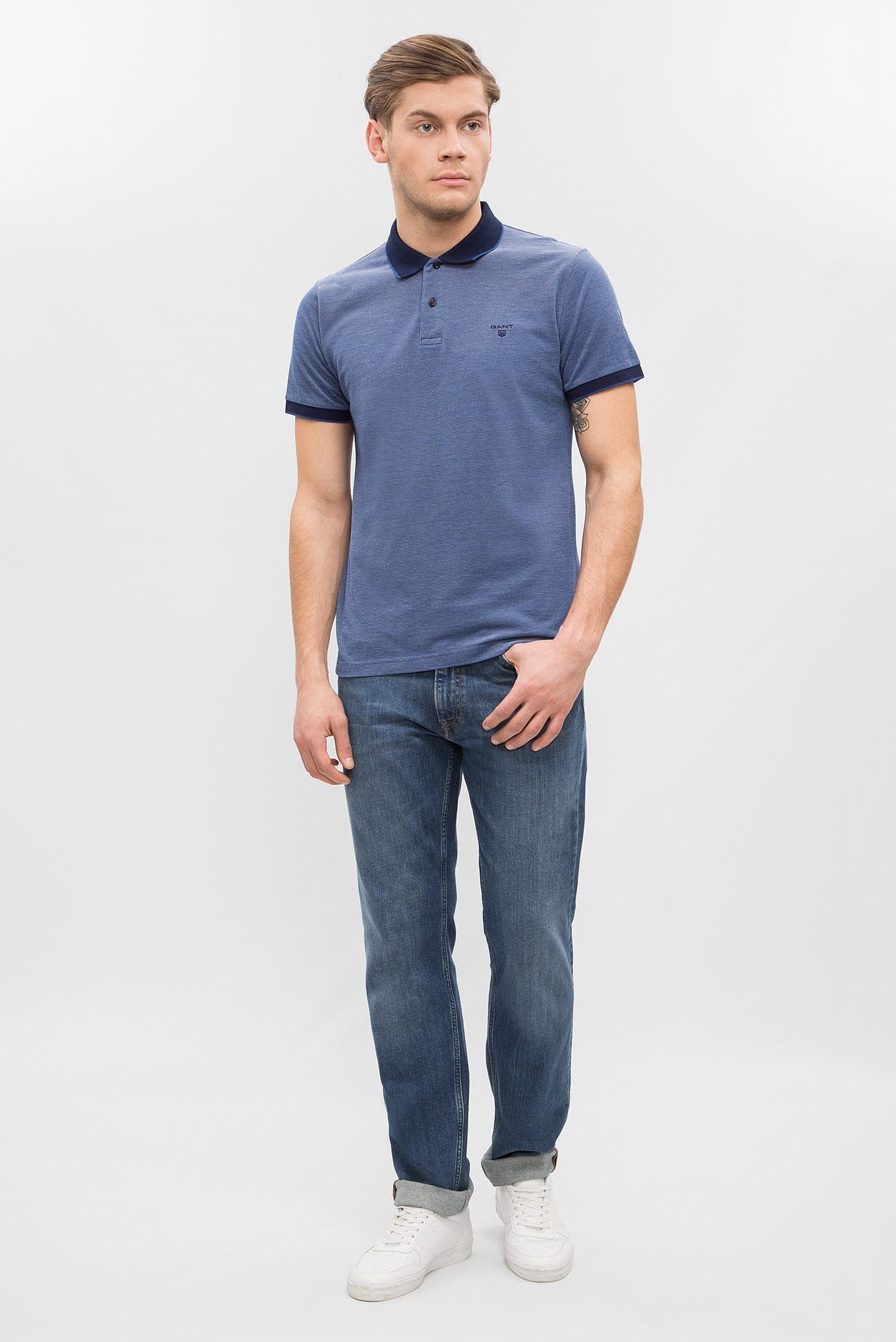 Мужское синее поло Gant