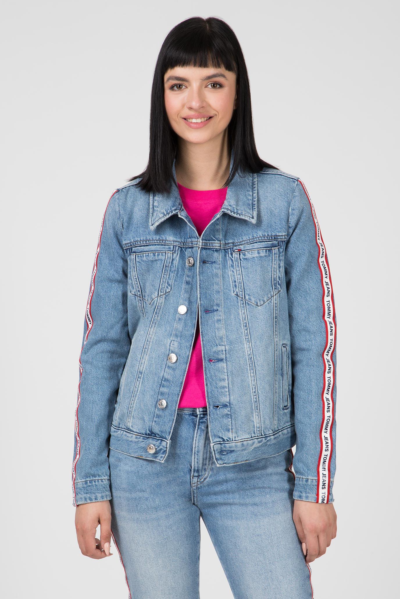 2fe87439c12 Купить Женская голубая джинсовая куртка REGULAR TRUCKER Tommy Hilfiger  Tommy Hilfiger DW0DW05924 – Киев