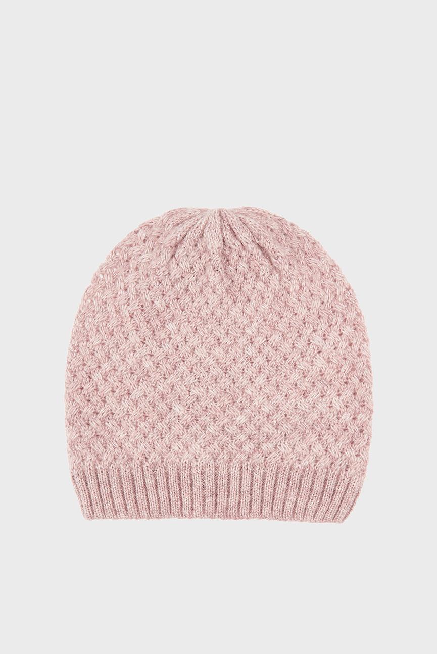 Женская розовая шапка WB BASKETWEAVE BEANI