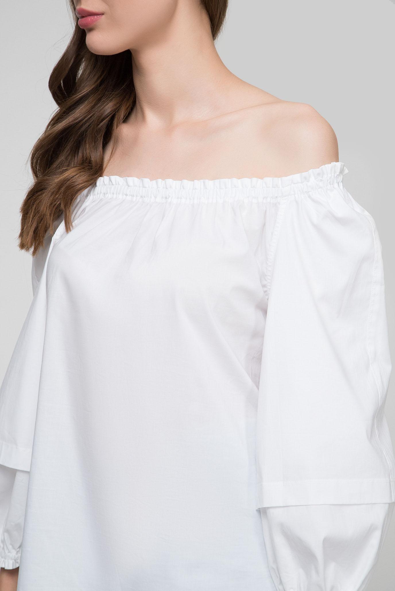 Купить Женская белая блуза PRONOUNCED SLV BLOUSE Calvin Klein Calvin Klein K20K200665 – Киев, Украина. Цены в интернет магазине MD Fashion