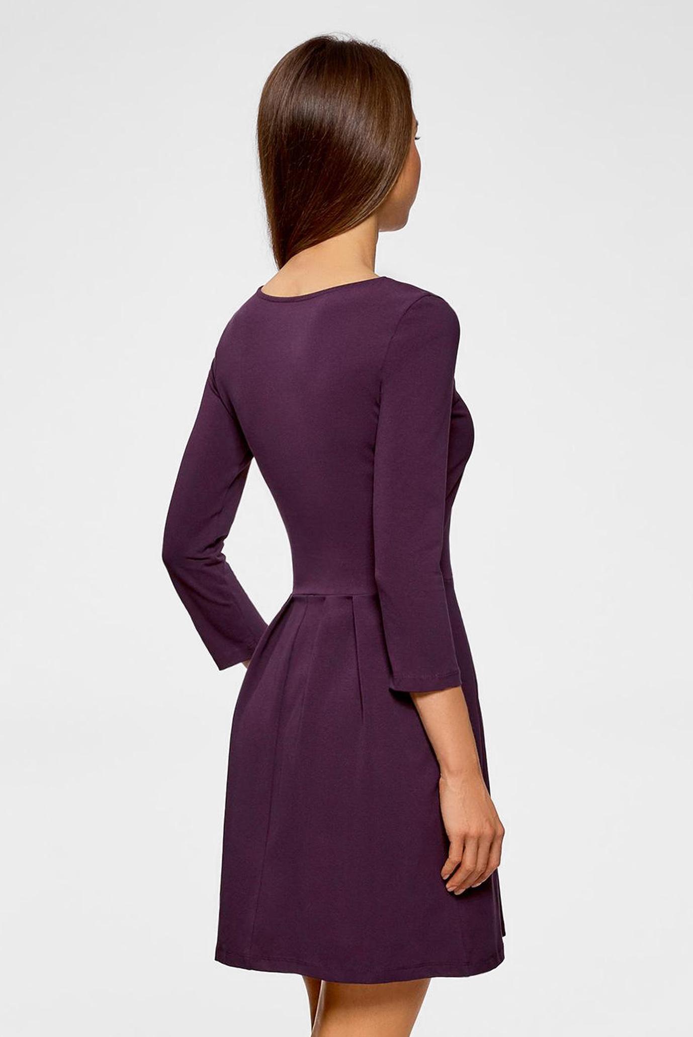 Женское фиолетовое платье Oodji