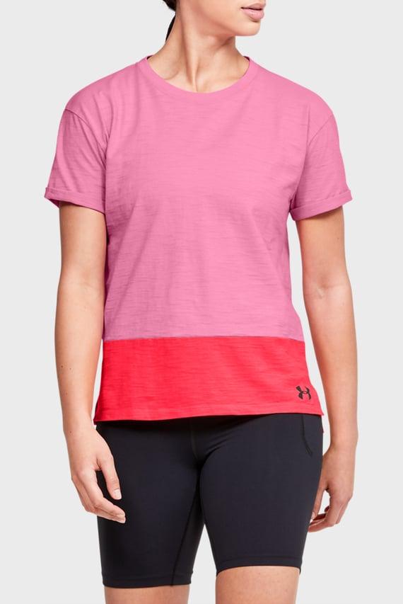 Женская розовая футболка UA Charged Cotton SS