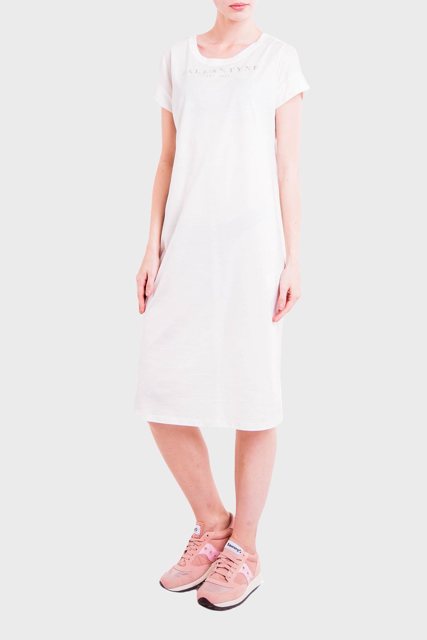Женское белое платье T-SHIRT PIMA JERSEY Ballantyne
