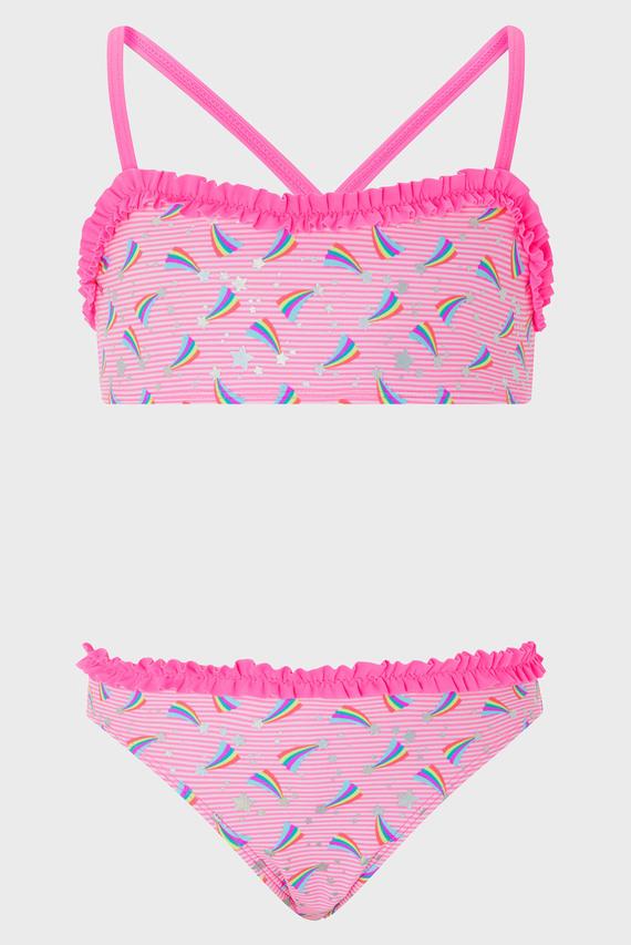 Детский розовый купальник (топ, трусики) SHOOTING STAR