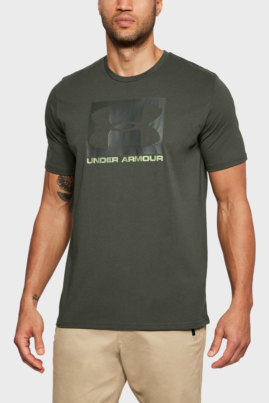 Мужская зеленая футболка UA Boxed Sportstyle SS