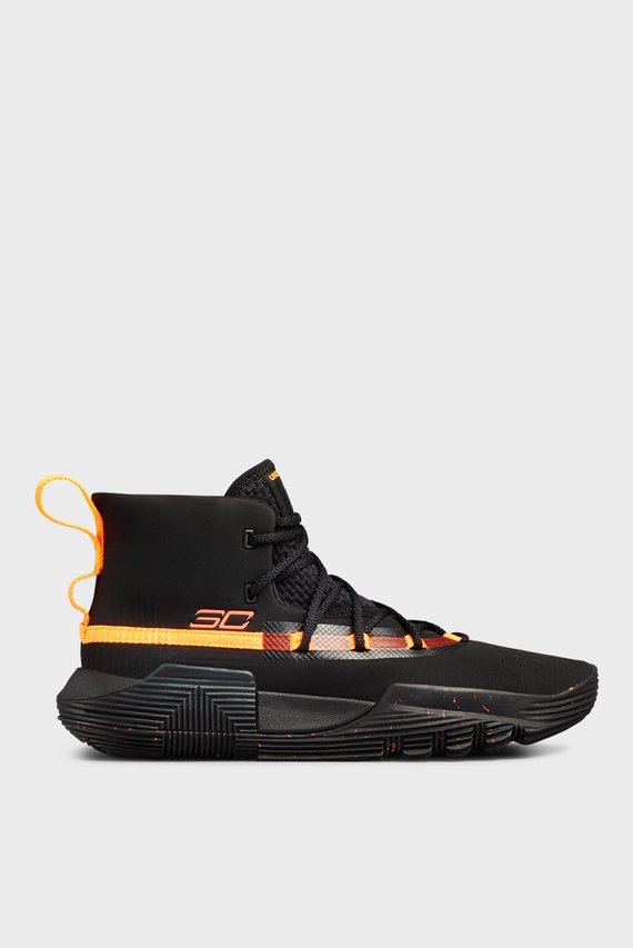 Детские черные кроссовки UA BGS SC 3Zer0 II