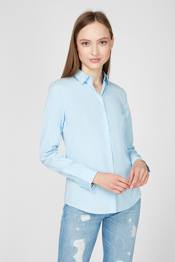 Женская голубая рубашка TH ESSENTIAL