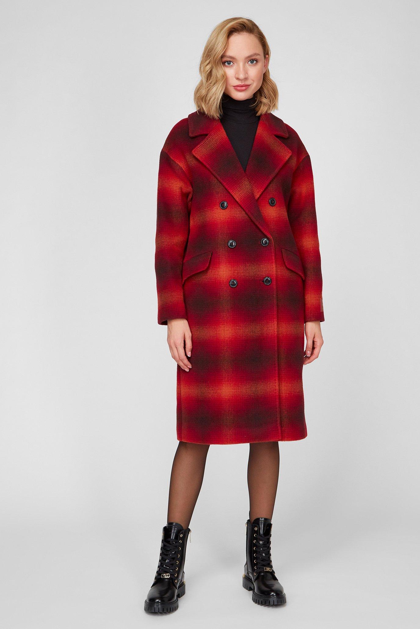 Женское пальто в клетку WOOL BLEND DB CHECK 1