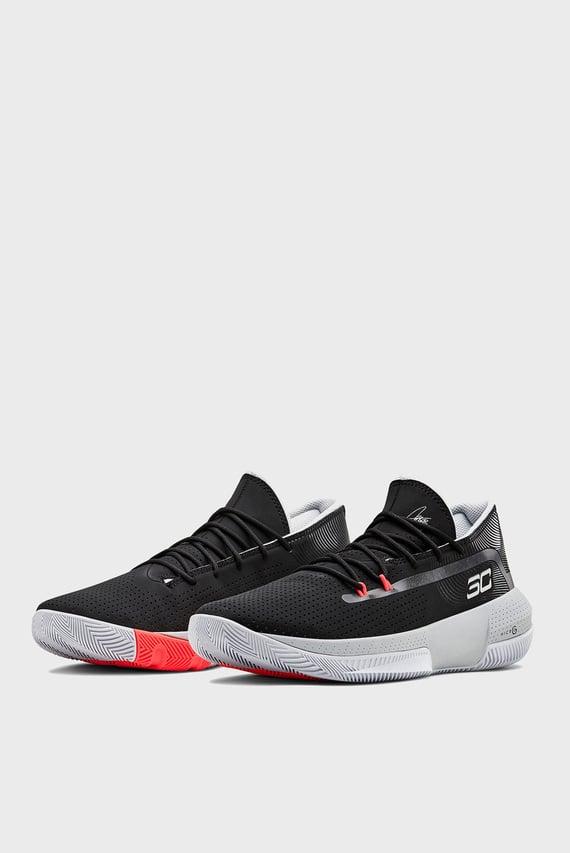 Мужские черные кроссовки UA SC 3ZER0 III-BLK