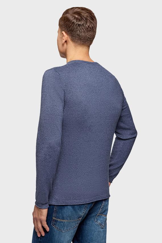 Мужской темно-синий джемпер