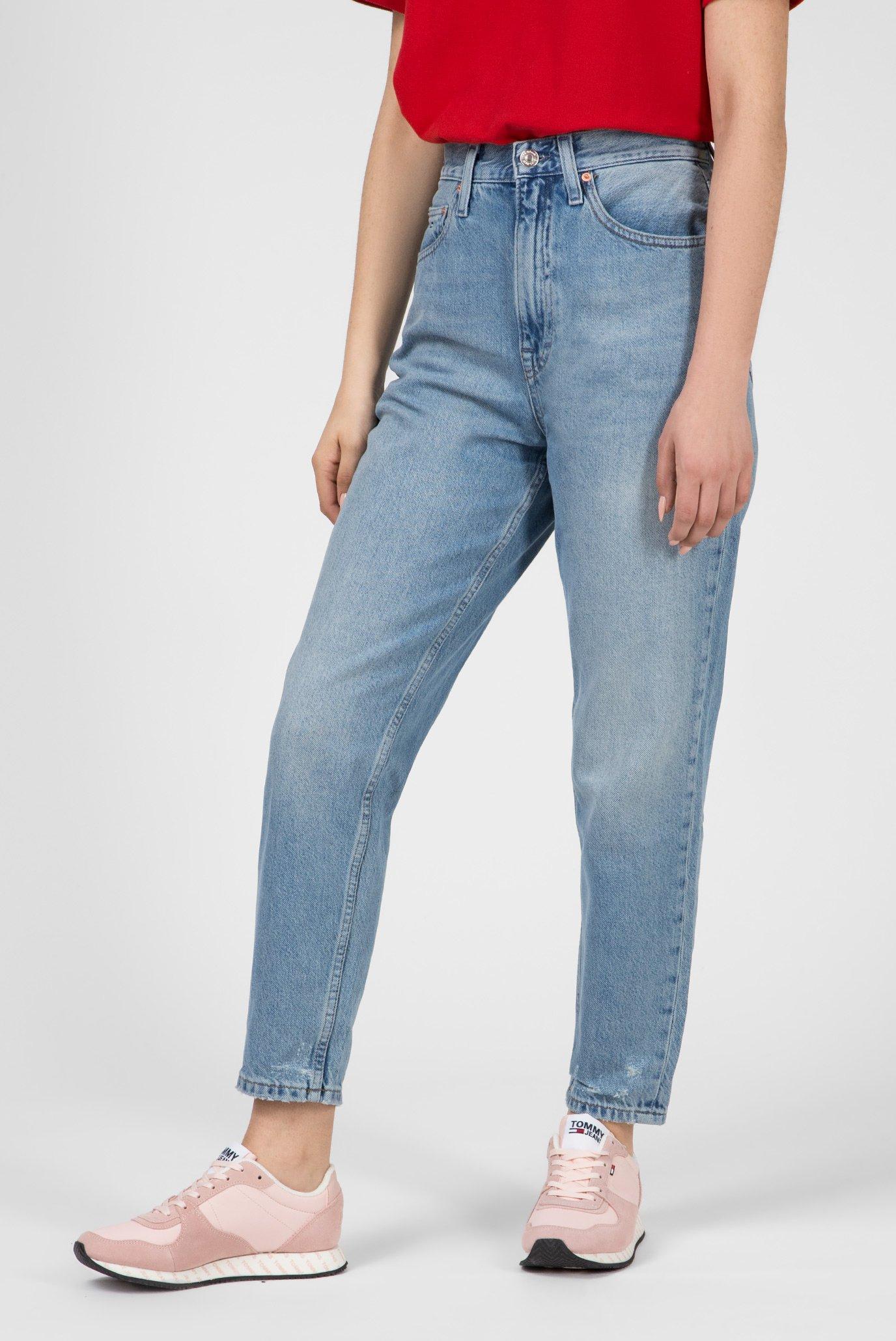 Женские голубые джинсы HIGH RISE TAPERED TJ2004 Tommy Hilfiger