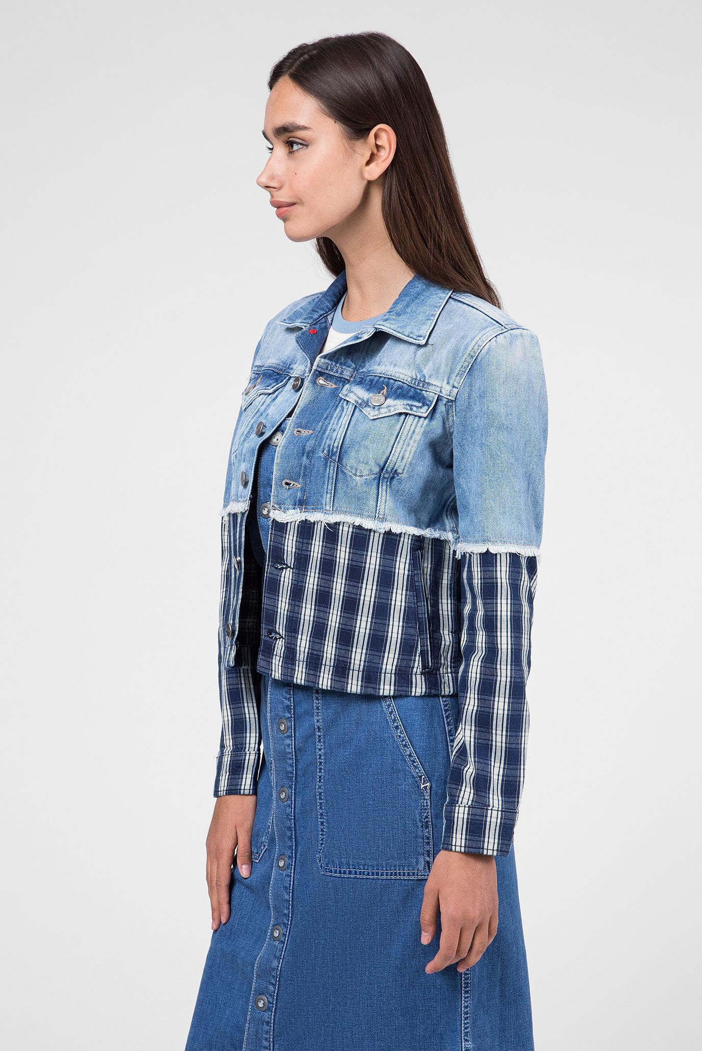 Женская синяя джинсовая куртка JESS MIX Pepe Jeans