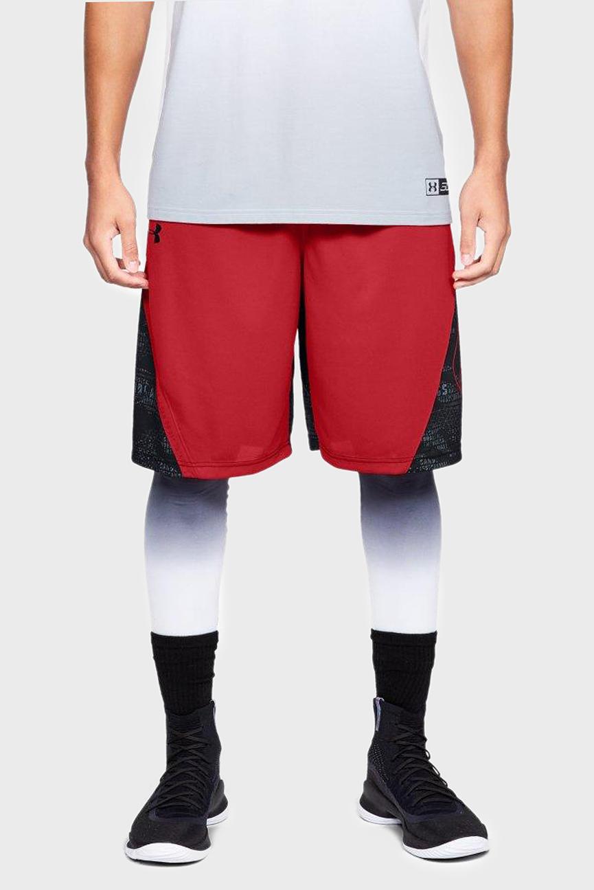 Мужские красные спортивные шорты UA Curry 11in Short