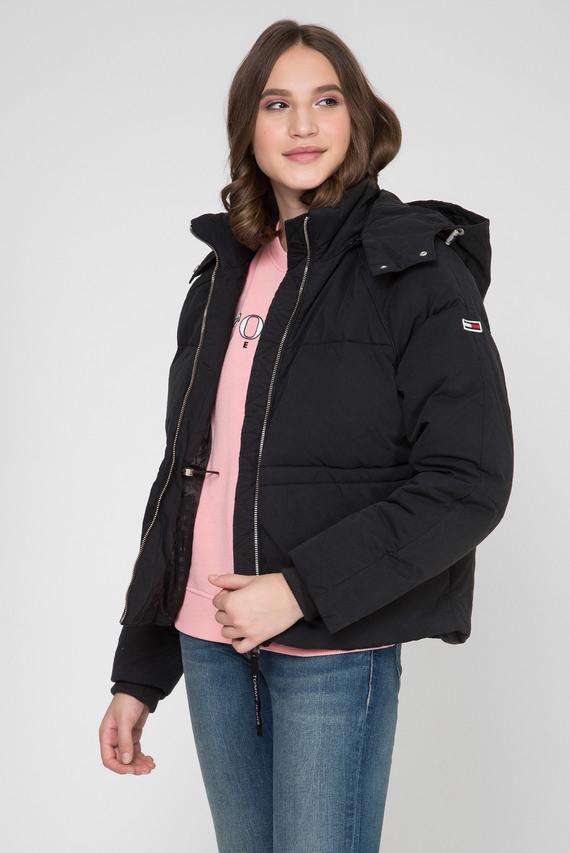 Женская черная куртка TJW TOMMY DETAIL PUFFA