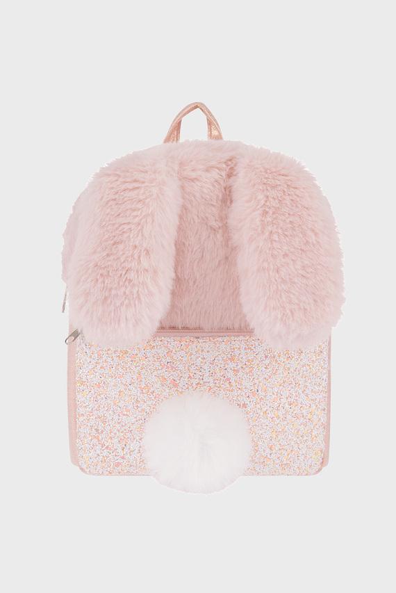 Детский розовый рюкзак Miss Fluffy Tail Bun