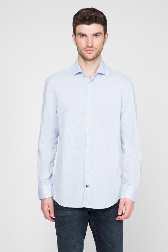 Мужская голубая рубашка WASHED DOBBY CLASSIC SLIM