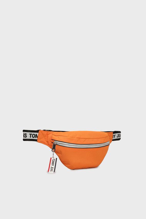 Мужская оранжевая поясная сумка LOGO TAPE