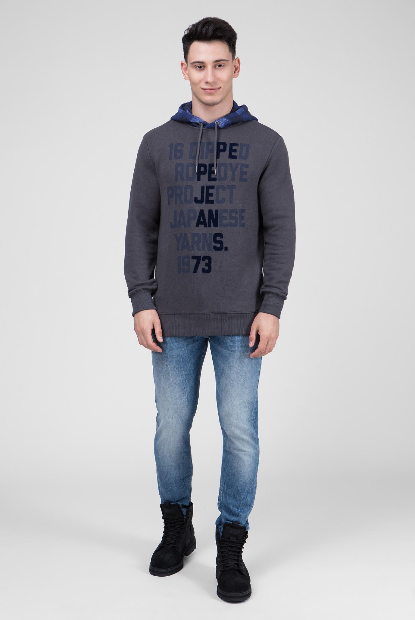 Купить Мужское серое худи с принтом COOPPER Pepe Jeans Pepe Jeans PM581489 – Киев, Украина. Цены в интернет магазине MD Fashion